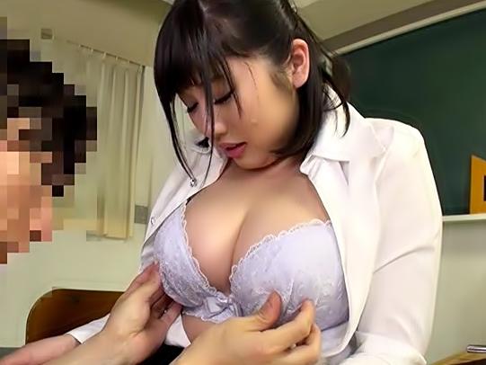 ◆◆先生っ。。。。。。お乳スッゲ~~~~~♪〔霧島さくら〕ドラマの女教師役でお乳フェチの悪ガキを誘惑しちまうぜwwwwwww