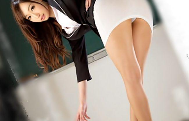 ☆☆蓮実クレア☆☆この脚に、プリケツ♪タイトスカート。。。最高♪何杯でもイケちゃうぜWWWエチ女教師の誘惑三昧WWWWWW