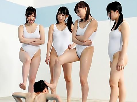 ◇◇S女揃いの水泳部♪◇◇チ◎コ部員は一人だけ♪毎日爆乳女子校生に【イヂメ】されるってM男にはカイカン~~wwwwwwwww