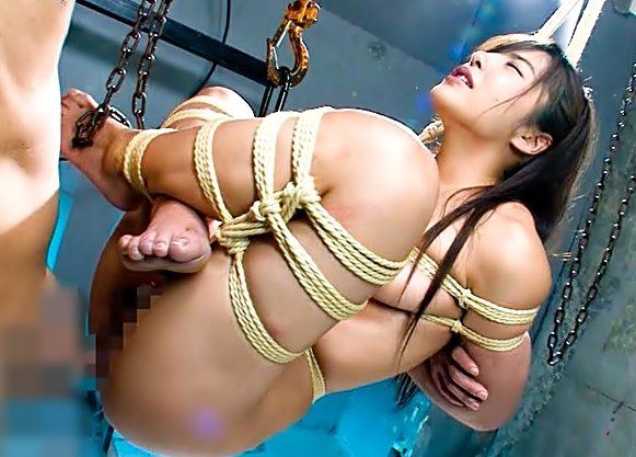 〚月島ななこ。。。美少女完全奴隷化〛うっぅぅ~~~♪宙吊り&拘束で自由を奪い取ったピンクマ◎コを是でもかと貫き捲るぜWWWWW