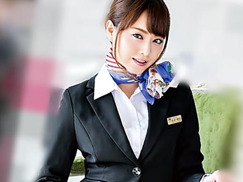 【吉沢明歩(^^♪】美しきCAは喉奥が性感帯の超ドМ♪拘束された制服姿でデカマラに次々お口を犯されちまうぜwwww