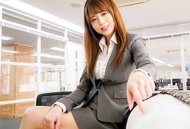【吉沢明歩(^^♪】ねぇ♡エチしようよ…って美脚な先輩OLの強力色仕掛けにチ〇コ犯されちまったぁ~wwwww
