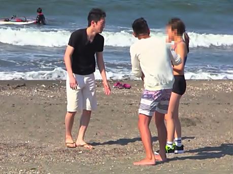 【素人GALナンパ(^^♪】ビーチで発見したノリノリお姉さん♡無毛マ〇コをデカマラ中出しの餌食にしたったぜwwww