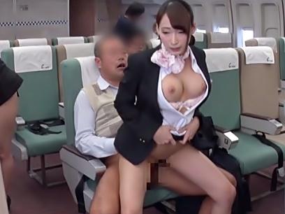[蓮実クレア\中出しオモテナシ航空会社(^^♪]お客様♡遠慮なさらず射精して下さい…極上CAのご奉仕って強烈ぅぅ~wwwwwww