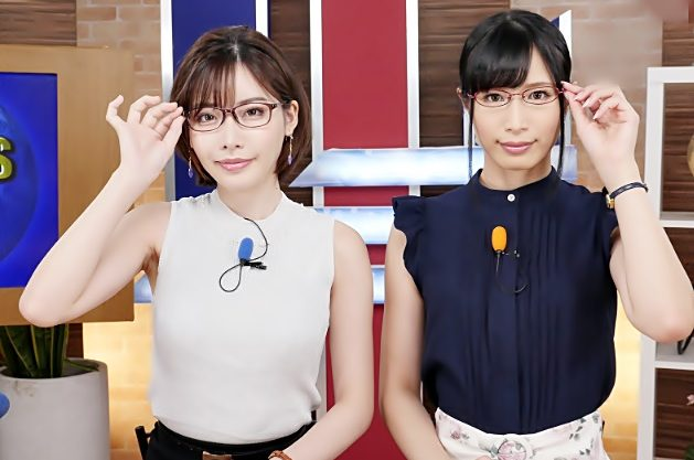 [深田えいみ\中条カノン]エチなニュースのお時間ですょ♡美人女子アナが日本全国に生挿れを配信しちゃうよんwwwwwwwwwww